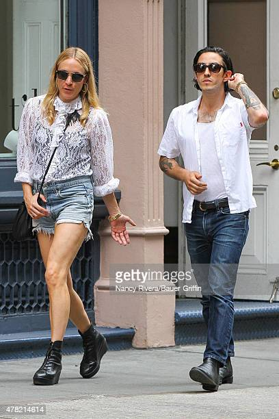 Chloe Sevigny is seen kissing a mystery man on June 23 2015 in New York City