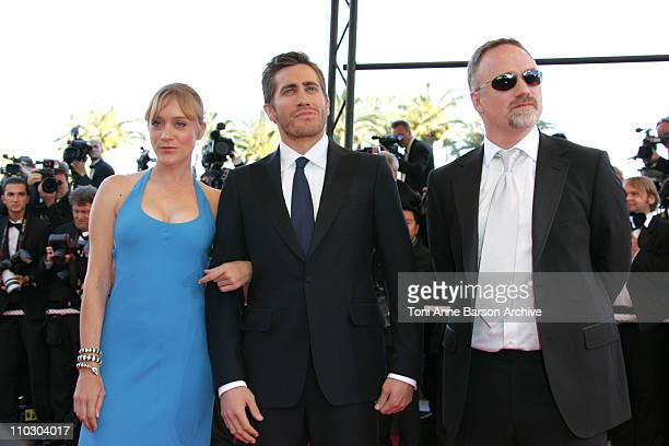 Chloe Sevigny Jake Gyllenhaal and David Fincher during 2007 Cannes Film Festival 'Zodiac' Premiere at Palais de Festival in Cannes France