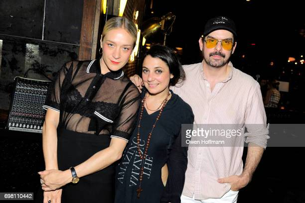 Chloe Sevigny Lizzi Bougatsos and Spencer Sweeney attend Second Mudd Club Rummage Sale at Roxy Hotel at The Roxy Hotel on June 12 2017 in New York...
