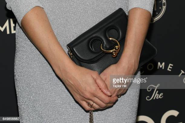 Chloe Sevigny purse detail attends the Metrograph 1st Year Anniversary Party at Metrograph on March 8 2017 in New York City