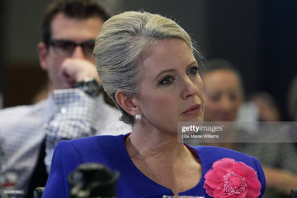 Chloe Shorten looks on as Leader of the Opposition, Australian Labor Party Bill Shorten addresses the National Press Club on June 28, 2016 in Canberra, Australia. Bill Shorten used the opportunity to announce that the first bill he will put to Parliament if voted in on July 2 will be for marraige equality.