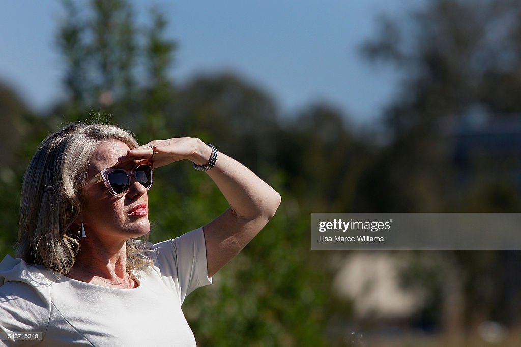 Chloe Shorten looks on as Opposition Leader, Australian Labor attends a press conference on June 30, 2016 in Logan, Australia. Bill Shorten is campaigning heavily on Medicare, promising to make sure it isn't privatised if the Labor Party wins the Federal Election on July 2.