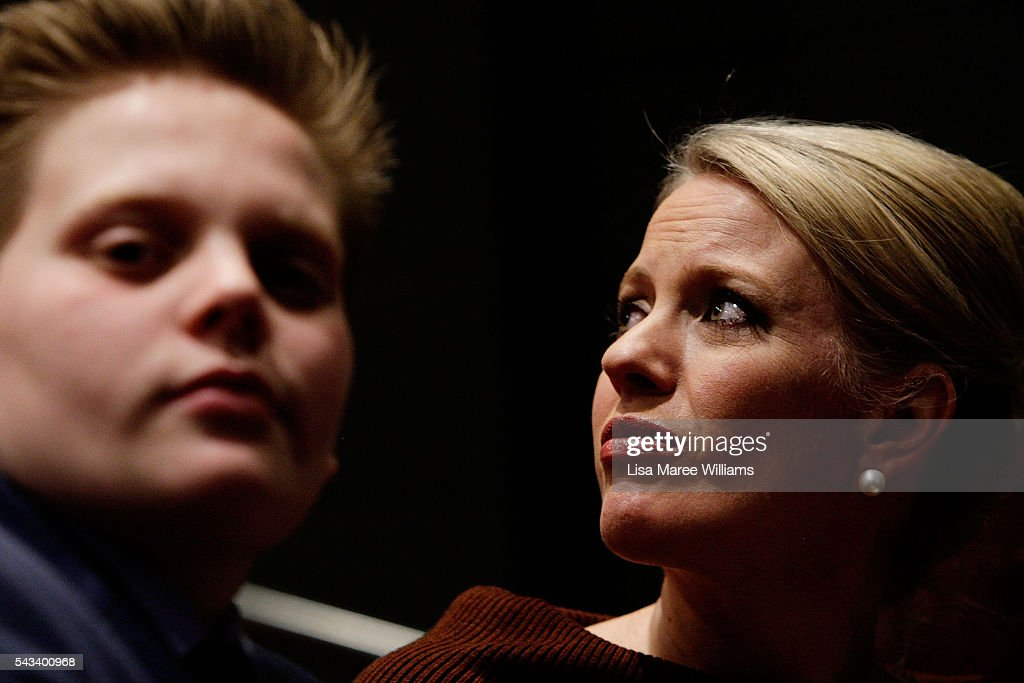 Chloe Shorten turns to look towards a woman sharing her story with the Leader of the Opposition, Bill Shorten during a town hall meeting on June 28, 2016 in Nowra, Australia.The latest Newspoll shows the Coalition has pulled ahead of the Labor Party, less than a week out from the July 2 election. On a two-party preferred basis, the Coalition now leads Labor 51-49, breaking the deadlock from the last poll.