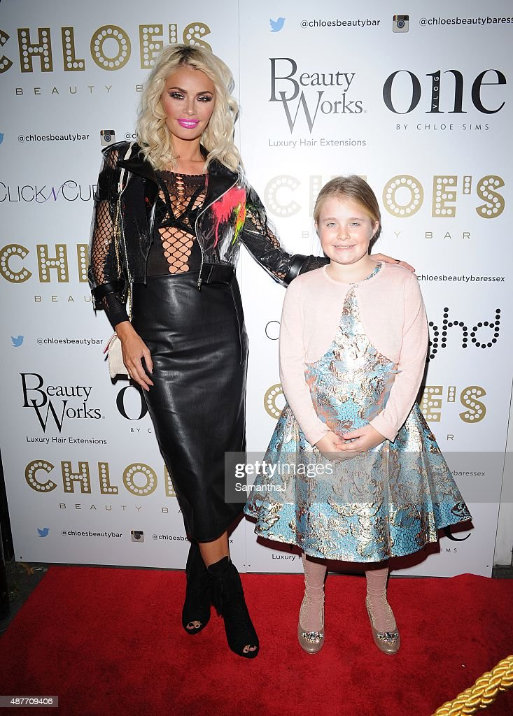 Chloe Sims and daughter Madison sighting on September 10 2015 in London England