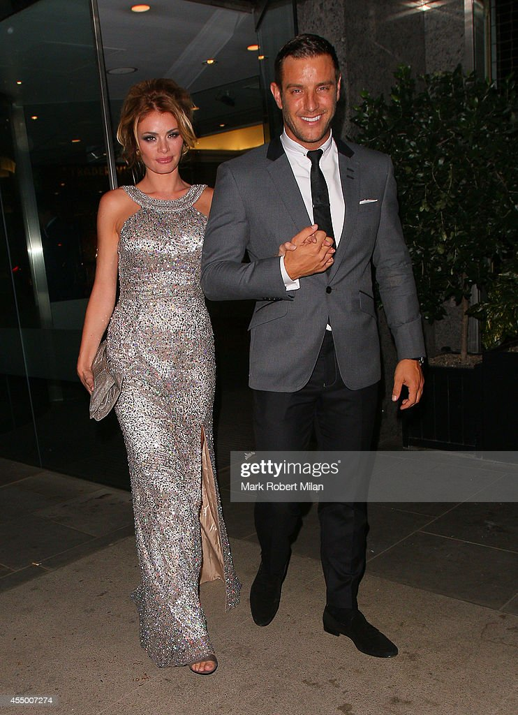 Chloe Sims and Elliot Wright at the TV Choice awards on September 8 2014 in London England