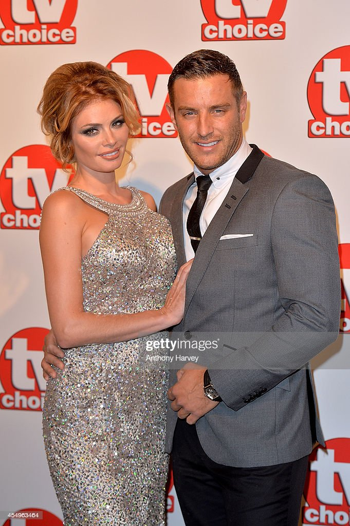 Chloe Sims and Elliot Wright attend the TV Choice Awards 2014 at London Hilton on September 8 2014 in London England