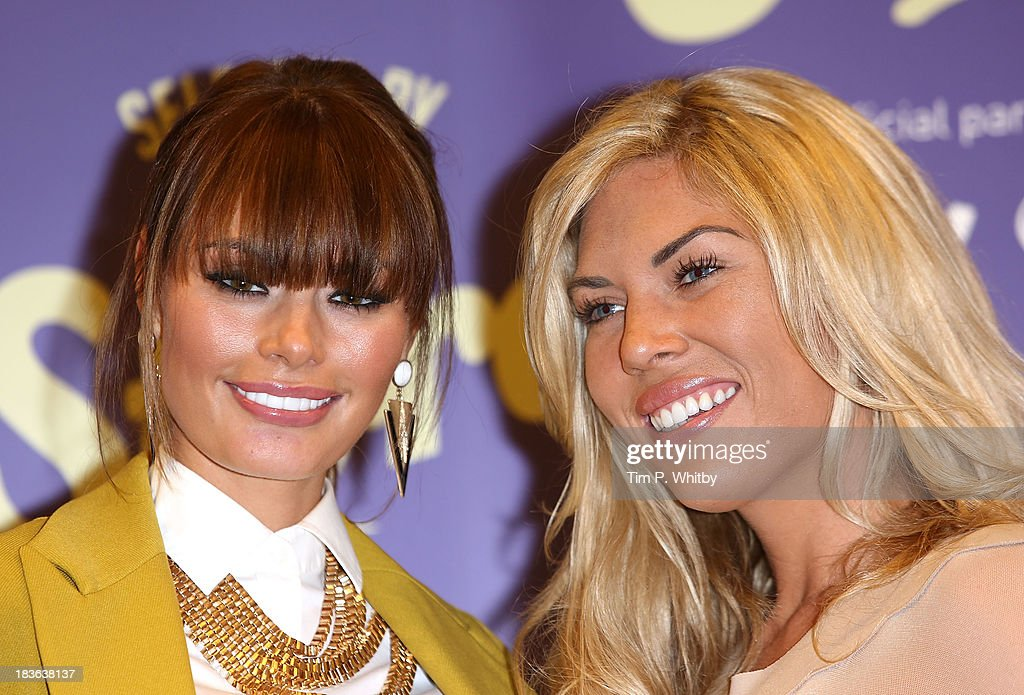 Chloe Sims and <a gi-track='captionPersonalityLinkClicked' href=/galleries/search?phrase=Frankie+Essex&family=editorial&specificpeople=7932355 ng-click='$event.stopPropagation()'>Frankie Essex</a> attend a photocall to launch new shopping channel 'The Store' at BAFTA on October 8, 2013 in London, England.