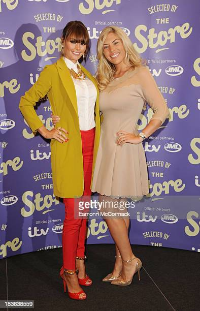 Chloe Sims and Frankie Essex attend a photocall to launch new shopping channel 'The Store' at BAFTA on October 8 2013 in London England