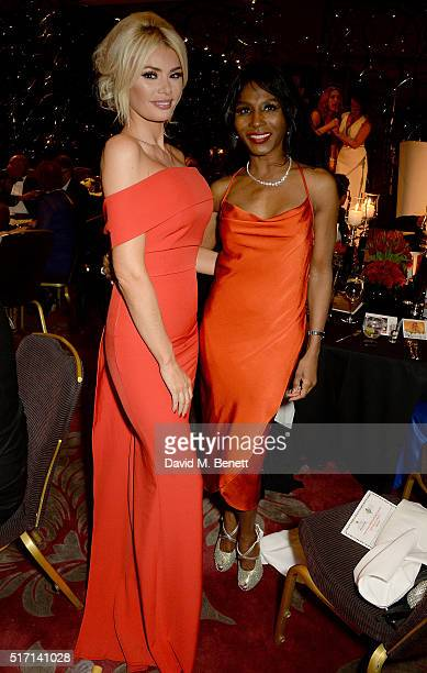 Chloe Sims and Sinitta attend a Gala Dinner following the special Charity Premiere of 'Despite The Falling Snow' in aid of the Nelson Mandela...