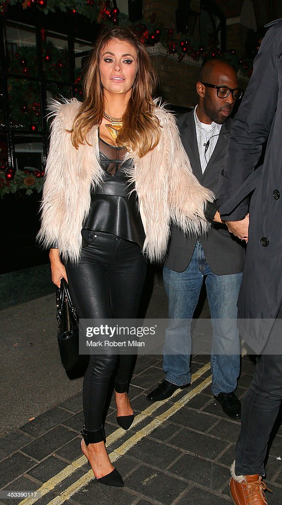 Chloe Sims at Anaya No9 Swallow Street night club on December 3, 2013 in London, England.