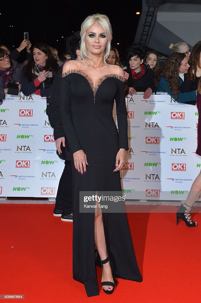 Chloe Sims attends the 21st National Television Awards at The O2 Arena on January 20 2016 in London England
