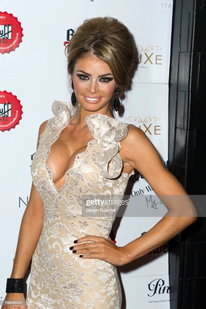 Chloe Sims attends the launch of Chloe Sims book 'Chloe Sims: The Only Way Is Up' at Luxe Nightclub on November 13, 2012 in Loughton, Essex.