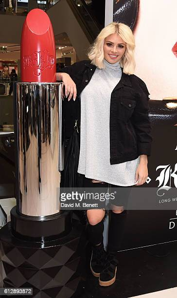 Chloe Sims attends the launch of Kat Von D Beauty at Debenhams on October 5 2016 in London England