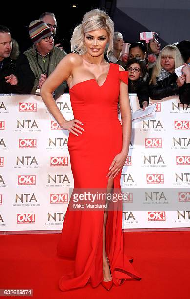 Chloe Sims attends the National Television Awards at The O2 Arena on January 25 2017 in London England