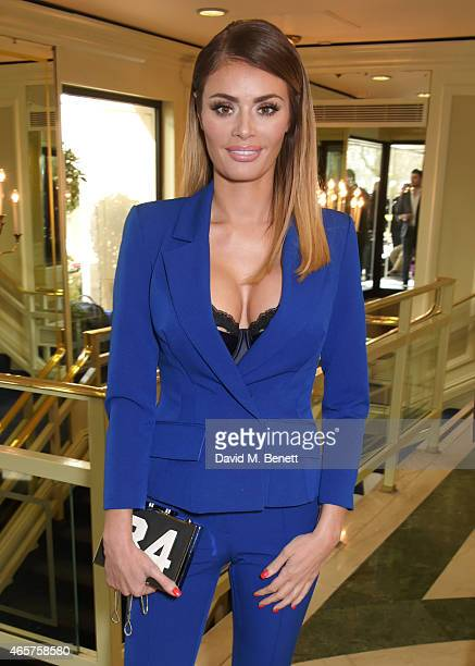 Chloe Sims attends the TRIC Television and Radio Industries Club Awards at The Grosvenor House Hotel on March 10 2015 in London England