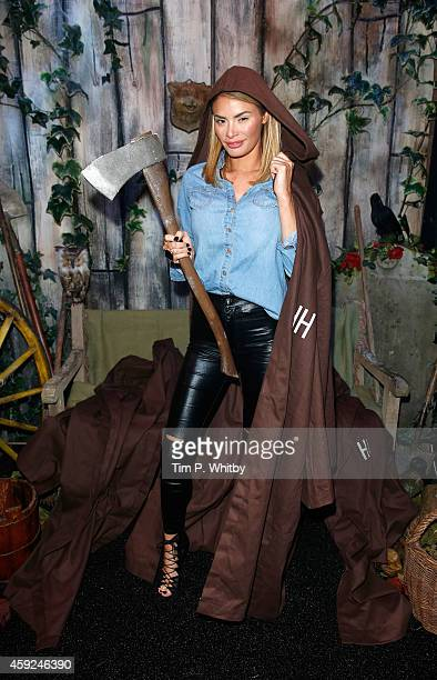 Chloe Sims attends the VIP Launch party for The Hidden House at Westfield Stratford City on November 19 2014 in London England The Hidden House is a...