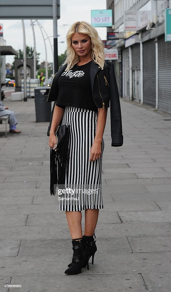 Chloe Sims is pictured out on July 5 2015 in Chigwell England
