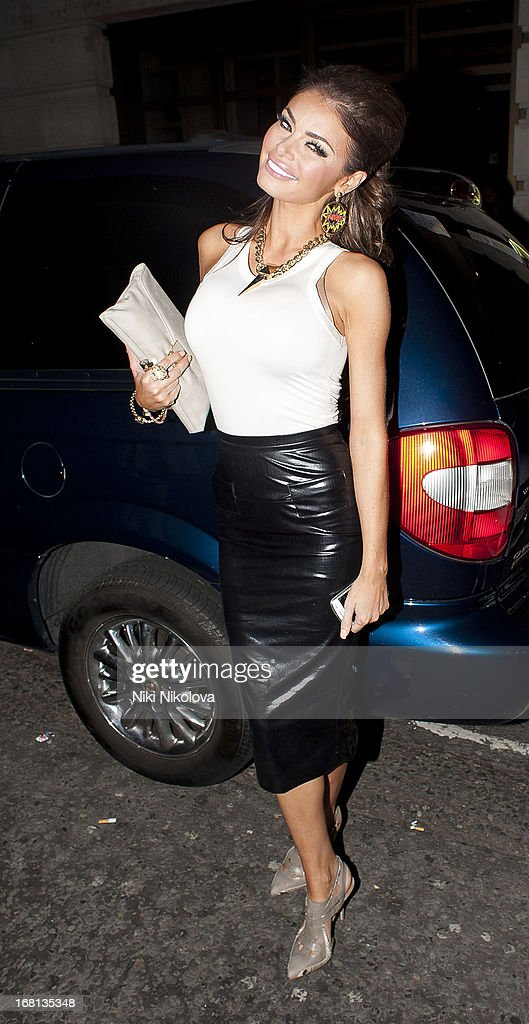 Chloe Sims sighting at Novikov Restaurant, Mayfair on May 5, 2013 in London, England.