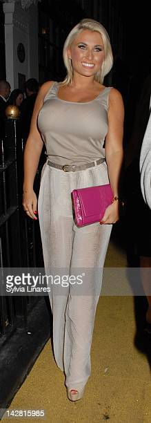 Chloe Sims sighting on April 12 2012 in London England