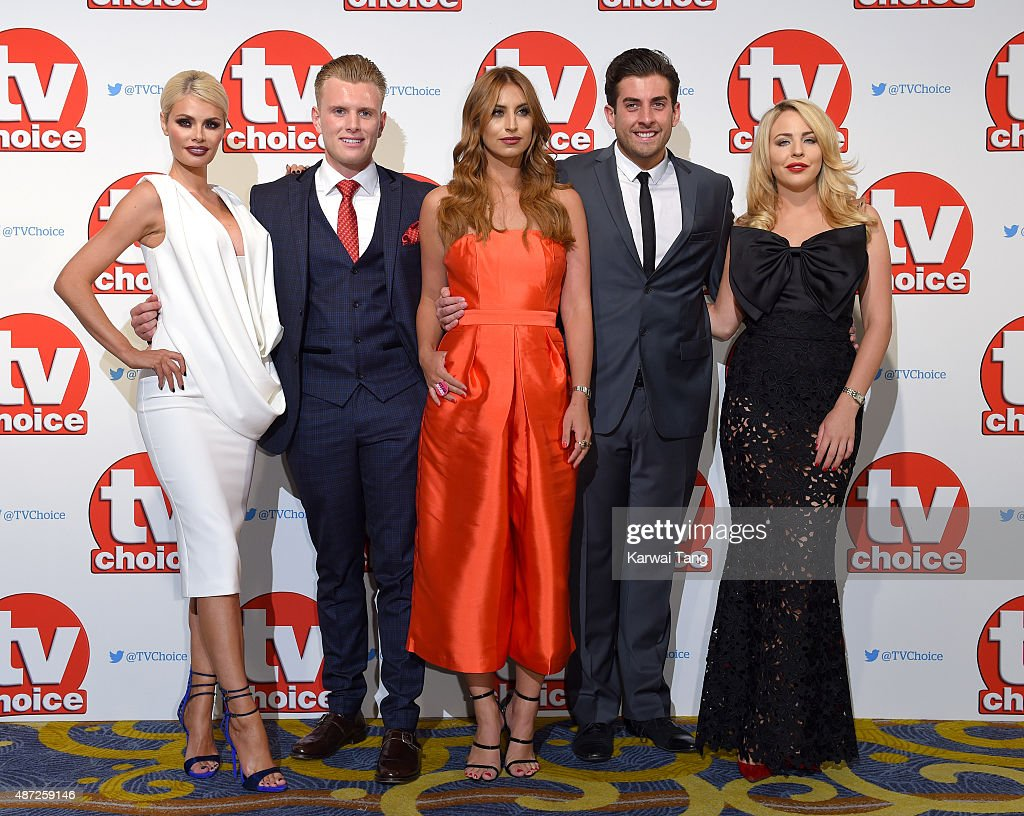 Chloe Sims Tommy Mallet Ferne McCann James Argent and Lydia Bright attend the TV Choice Awards 2015 at Hilton Park Lane on September 7 2015 in London...