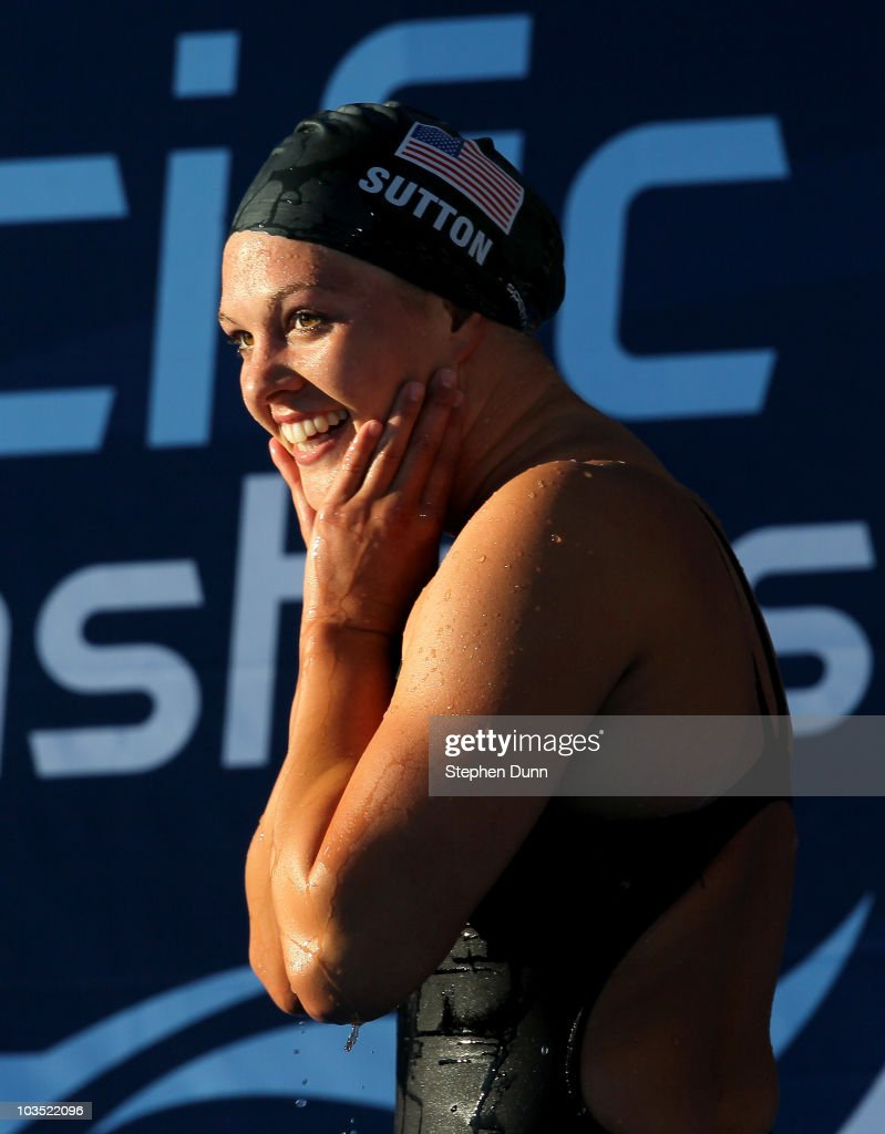 <a gi-track='captionPersonalityLinkClicked' href=/galleries/search?phrase=Chloe+Sutton&family=editorial&specificpeople=710961 ng-click='$event.stopPropagation()'>Chloe Sutton</a> reacts after winning the women's 400m freestyle final during the Mutual of Omaha Pan Pacific Championships at the William Woollett Jr. Aquatic Center on August 20, 2010 in Irvine, California.