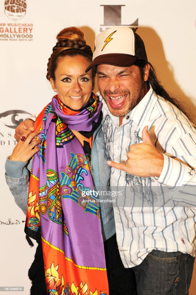 Chloe Trujillo (L) and bassist Robert Trujillo of Metallica arrive at Mr. Musichead Gallery for the 'Miles Davis: The Collected Artwork' Launch Party on November 7, 2013 in Los Angeles, California.