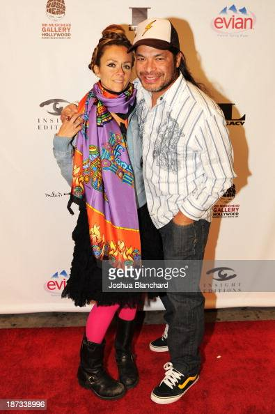 Chloe Trujillo and bassist Robert Trujillo of Metallica arrive at Mr Musichead Gallery for the 'Miles Davis The Collected Artwork' Launch Party on...