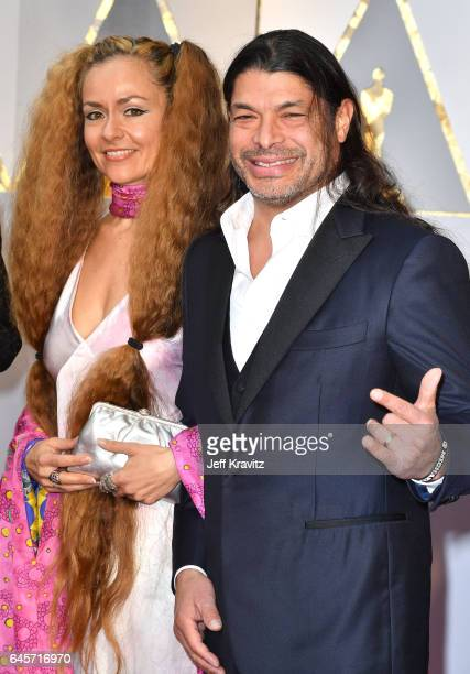Chloe Trujillo and musician Robert Trujillo attend the 89th Annual Academy Awards at Hollywood Highland Center on February 26 2017 in Hollywood...
