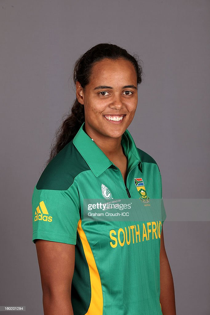 Chloe Tryone of South Africa poses at a portrait session ahead of the ICC Womens World Cup 2013 at the Taj Mahal Palace Hotel on January 27, 2013 in Mumbai, India.