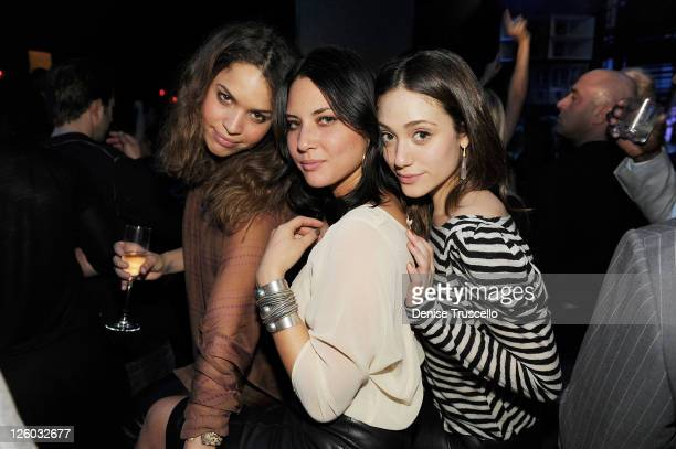 Chloe Wade Olivia Munn and Emmy Rossum attend the grand opening of Marquee nightclub in The Cosmopolitan on December 30 2010 in Las Vegas Nevada