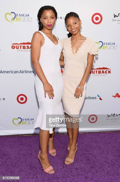 Chloe x Halle attend HollyRod Foundation's DesignCare Gala at Private Residence on July 15 2017 in Pacific Palisades California