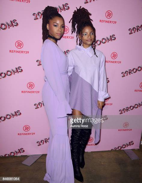 Chloe x Halle attend Refinery29's '29Rooms Turn It Into Art' at 106 Wythe Ave on September 7 2017 in New York City