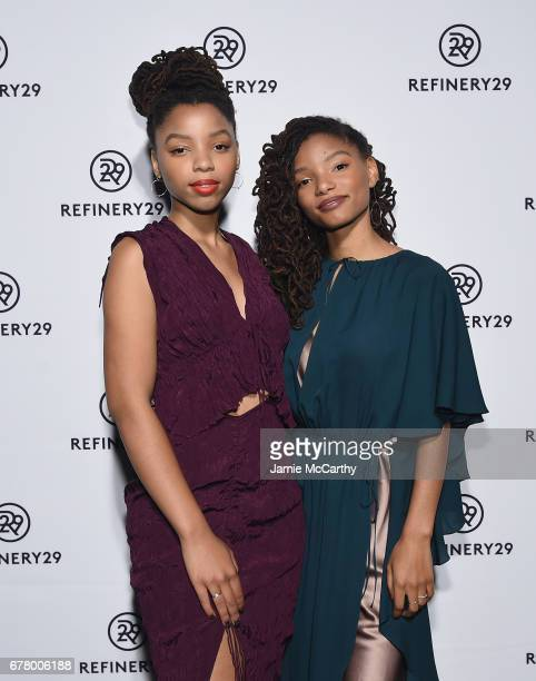 Chloe x Halle attend Refinery29's Newfronts presentation OUR PARTY IS WOMEN on May 3 2017 in New York City