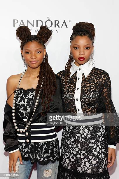 Chloe x Halle attend the 2016 Billboard Women in Music Awards at Pier 36 on December 9 2016 in New York City