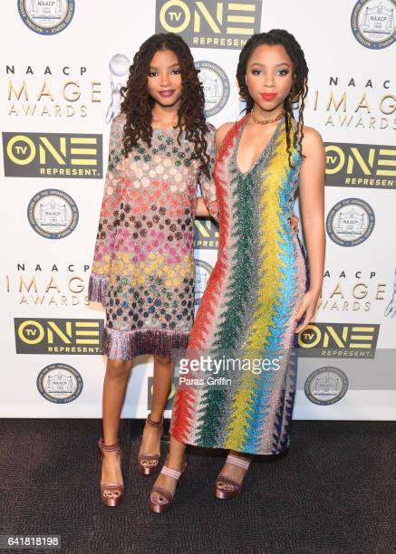 Chloe x Halle attends 48th NAACP Image Dinner at Pasadena Convention Center on February 10 2017 in Pasadena California