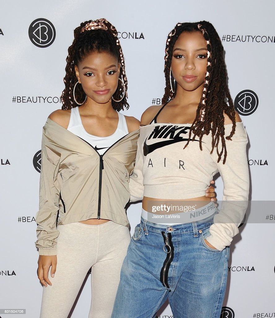 Chloe X Halle attends the 5th annual Beautycon festival at Los Angeles Convention Center on August 13, 2017 in Los Angeles, California.
