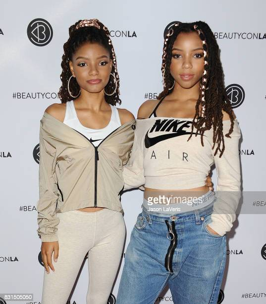 Chloe X Halle attends the 5th annual Beautycon festival at Los Angeles Convention Center on August 13 2017 in Los Angeles California