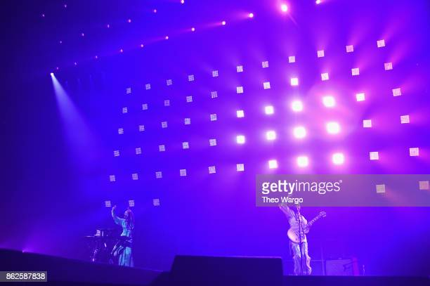 Chloe X Halle perform onstage during TIDAL X Brooklyn at Barclays Center of Brooklyn on October 17 2017 in New York City