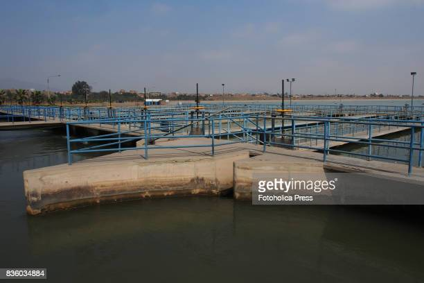 Chlorination pools of the Atarjea drinking water plant on the Rimac river The Lima Water and Sewerage Service organized a tour of its facilities 'By...