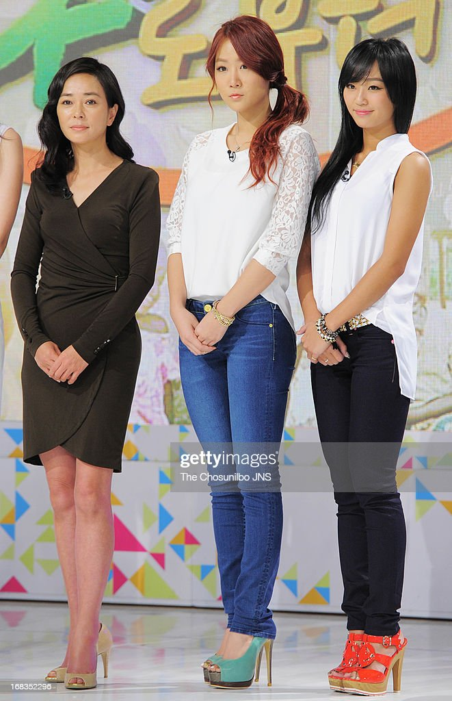 Cho Min-Soo, So-You and Hyo-Lyn attend the '2013 Hope TV SBS' Press Conference at SBS Prism Tower on May 8, 2013 in Seoul, South Korea.