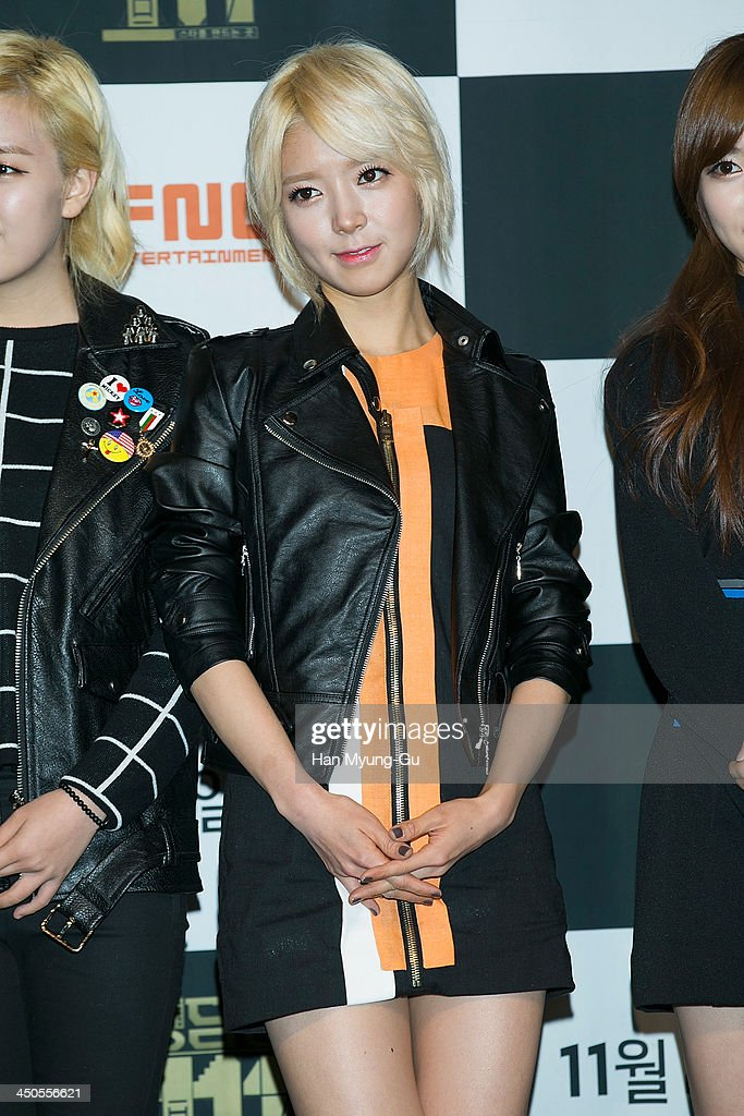Choa of South Korean girl group AOA (Ace of Angels) attends tvN Drama 'Cheongdamdong 111' press conference at CGV on November 18, 2013 in Seoul, South Korea. The drama will open on November 21, in South Korea.