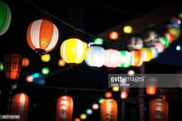 Cho-chin illumination on summer festival
