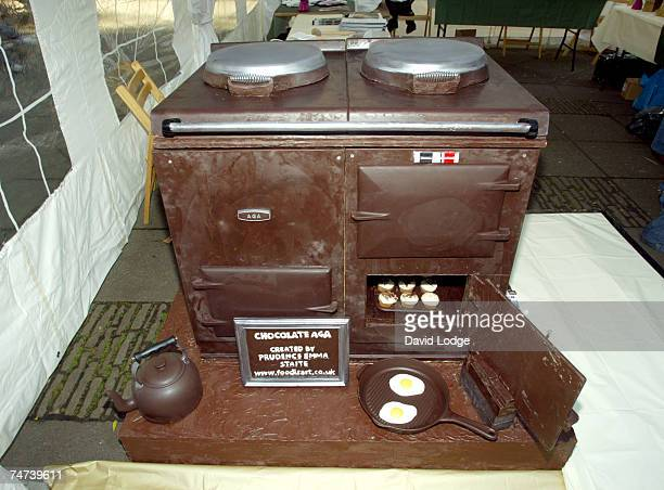 Chocolate Aga at the Aga Launches Brand New Chocolate Colored Oven Photocall at Soho Square in London