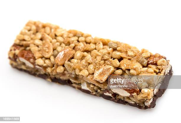 Chocolate, almonds, and peanuts energy bar