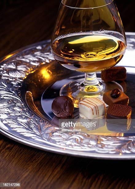 Chocolat et cognac
