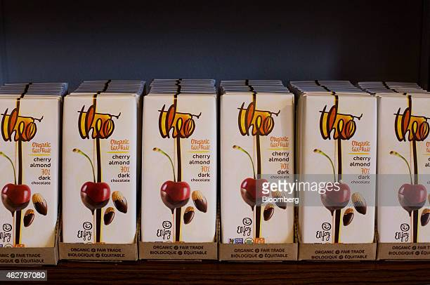 Chocolate bars displayed for sale in the retail space at the Theo Chocolate factory in Seattle Washington US on Monday Feb 2 2015 The US Census...