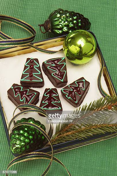 Chocolate biscuits for Christmas
