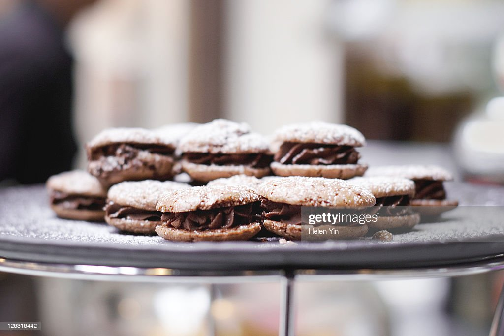Chocolate biscuits : Stock Photo