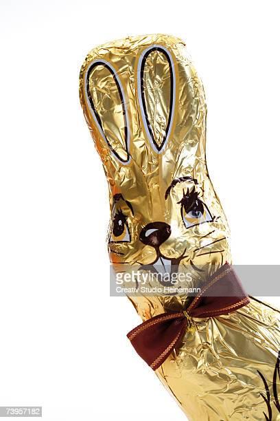Chocolate bunny, close-up