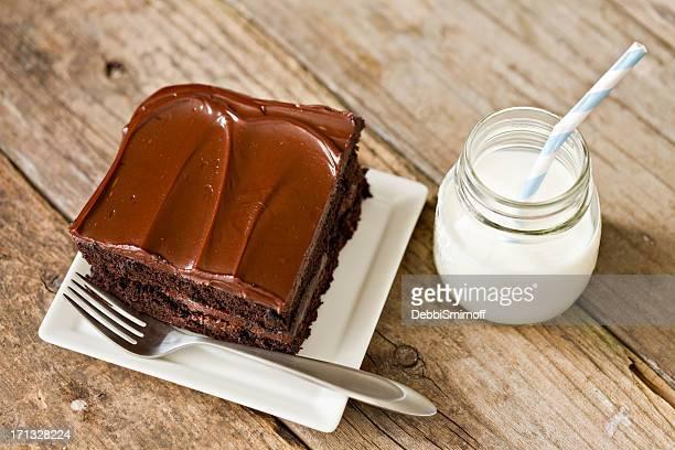 チョコレートケーキ、ミルク